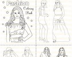Small Picture Fashion coloring Etsy
