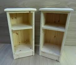 30cm wide solid pine bedside cabinets