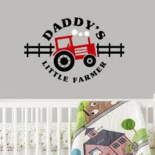 tractor wall decal daddy s little farmer