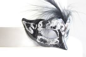 Miniature Masquerade Masks Decorations Miniature Mini Masquerade Masks Black Silver Cake Topper 43