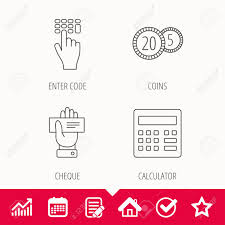 Star Chart Calculator Calculator Coins And Cheque Icons Enter Code Linear Sign Edit
