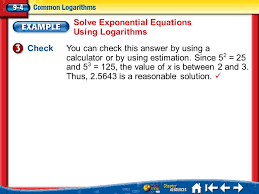 11 solve exponential equations using logarithms