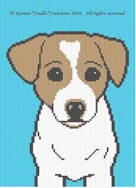 Chart Dog Graph Crochet Patterns Jack Russell Terrier Dog Graph Afghan Pattern Chart