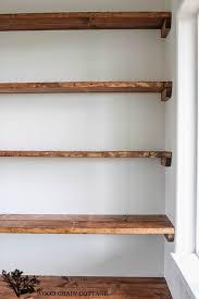 how to build wood pantry shelves diy shelves 18 diy shelving ideas open shelving wood grain