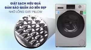 TRẢ GÓP 0% - Máy giặt Aqua Inverter 9 kg AQD-D900F S Mới 2020