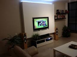 picture of drywall tv niche