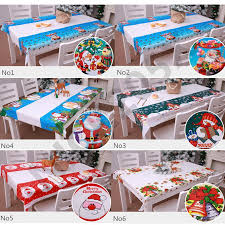 tablecloth disposable festive table cloth tableware kitchen decoration ornaments 108 180 cm xmas fl tablecloth round vinyl