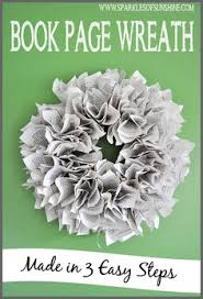 book page wreath made in 3 easy steps