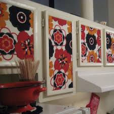Wallpaper For Kitchen Cabinets Starch Fabric Kitchen Cabinets Tutorial Sew Becky Jo