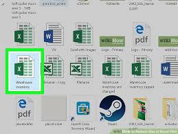 Computer File Size Conversion Chart How To Reduce Size Of Excel Files With Pictures Wikihow