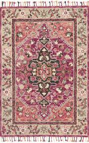 loloi rugs zharah zr 05 raspberry taupe area rug