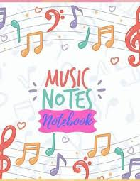 Music Writing Paper Music Notes Notebook Lined Ruled Paper And Staff
