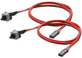 Electop 2 Pack 2 Pin SW PC <b>Power Cable on</b>/Off Push <b>Button</b> ATX ...