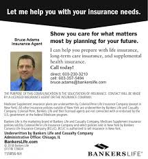 Bankers Life And Casualty Bankers Life Bruce Adams Insurance Agencies Keene Nh