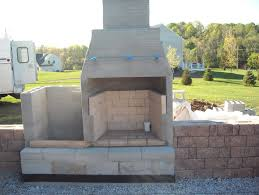 build outdoor fireplace with cinder blocks home design ideas intended for concrete block outdoor fireplace