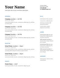 Google Resume Gorgeous Best Resume Templates Free Google Docs Template Resumetic Free