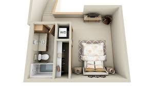 Creative One Bedroom House Plans that Promote Eco friendly EnvironmentStudio style bedroom house plans   basement