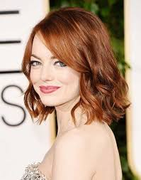 short haircut with thin red wavy hair