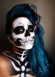 extremely subtle skeleton makeup