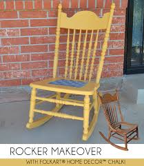 Small Picture Rocking Chair Makeover with FolkArt Home Decor Chalk Dream a