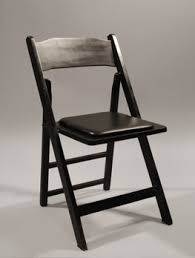wooden folding chairs with padded seats.  Chairs Black Wood Padded Seat Also Available In Resin Composite Material And Wooden Folding Chairs With Seats S