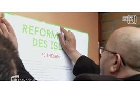 half a millennium on it is islam in crisis mr ourghi pinning his theses to the door of a berlin mosque source