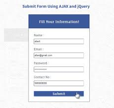 Submit Form Submit Form Using Ajax Php And Jquery Formget