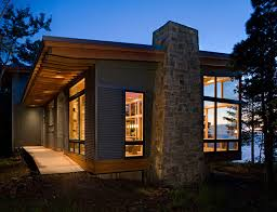 Contemporary Cabins Modern Lake House With Amazing Interior Design From Finne