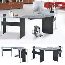 home office study furniture. Image Is Loading Glass-Top-Computer-Table-Laptop-PC-Semicircle-Desk- Home Office Study Furniture I
