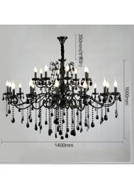 baccarat style black large chandelier with mini chandelier lampshade item cszg 6011 16 8