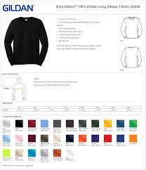Gildan Ultra Cotton T Shirt Color Chart Dreamworks