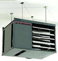sterling garage heater in a garage