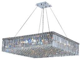 innovative square chandelier lighting cascade 12 light chrome finish and clear crystal 32 square