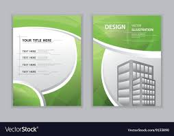 abstract green template book cover vector image