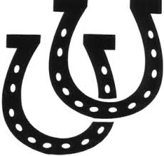 horseshoe clipart.  Clipart Double Horseshoe Clipart Image Intended R