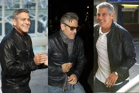 george clooney s best leather jacket outfits