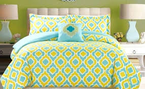 teal and yellow bedding piece turquoise blue king comforter uk