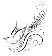 calligraphy fly bird vector art silhouettes bing gallery