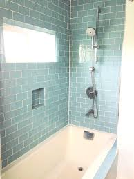 Black Glass Subway Tile Backsplash Bathrooms Design Blue Porcelain ...