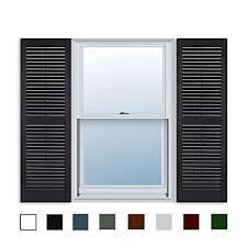black vinyl shutters. Fine Shutters 15 Inch X 59 Standard Louver Exterior Vinyl Window Shutters Black  Pair For Shutters R