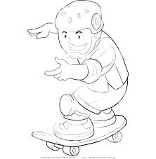 tony hawk coloring pages free with skateboard ramp skateboarding sports clip art of a page