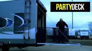 toy hauler r door party deck