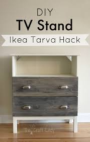 diy ikea tarva. Ikea Tarva Hack From The Crazy Craft Lady. Full Tutorial For Making A Custom TV Diy