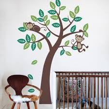 monkey tree wall decal monkeys wall decal nursery