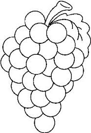 black and white grapes clipart. Simple Grapes In Black And White Grapes Clipart V