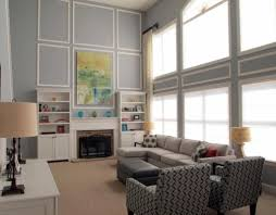 Two Story Living Room Curtains Living Room Relaxing Contemporary Family Room Ideas Contemporary