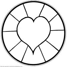 entranching pictures to print and color for kids simple heart mandala coloring pages kids coloring simple