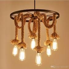 lampara rope vintage pendant lights retro industrial edison lamps pertaining to vintage pendant lighting ideas
