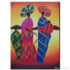 zz716 modern abstract canvas wall art colorful abstract african women canvas oil art painting wall pictures on colorful abstract canvas wall art with 2018 zz716 modern abstract canvas wall art colorful abstract african