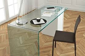 nervi glass office desk. Glass Office Desks New Fiam Rialto L Contemporary Furniture From With Regard To 27 Nervi Desk